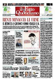 Renzi minaccia le urne e attacca i giudici come Craxi e B.