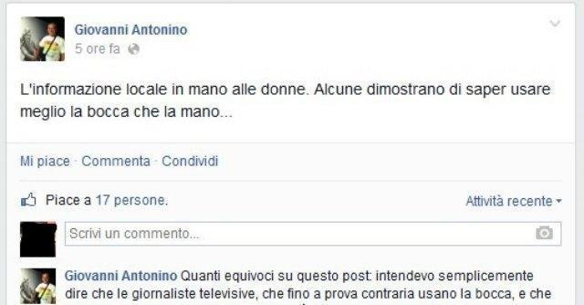 """Brindisi, ex sindaco contro le giornaliste: """"Sono più brave di bocca che di mano"""""""