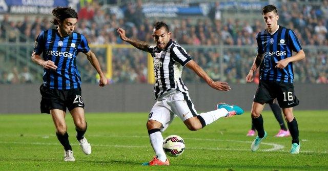 Atalanta – Juventus 0-3, i bianconeri a punteggio pieno: doppietta Tevez, poi Morata
