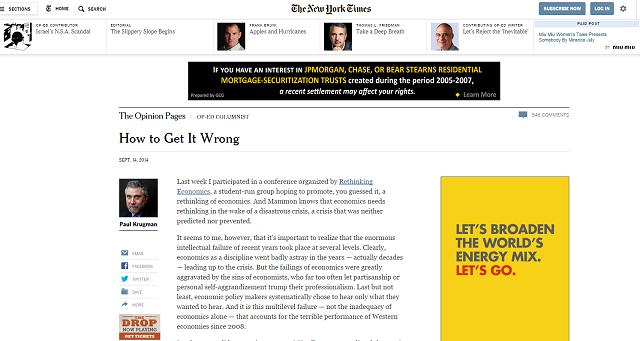 Krugman, le previsioni e la stabilità