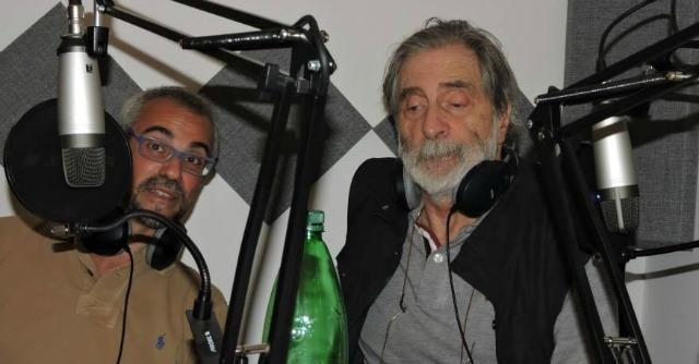 Ettore Borzacchini (a destra) con lo scrittore Marco Malvaldi