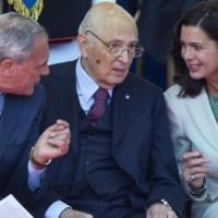 Piero Grasso, Giorgio Napolitano e Laura Boldrini
