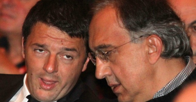 """Marchionne: """"Appoggiamo Renzi"""". E il premier ricambia: """"Fiat esempio per Italia"""""""