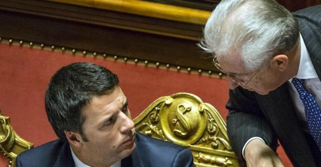 Matteo Renzi e Mario Monti