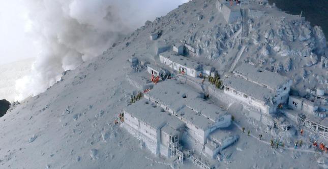 Eruzione vulcano Ontake