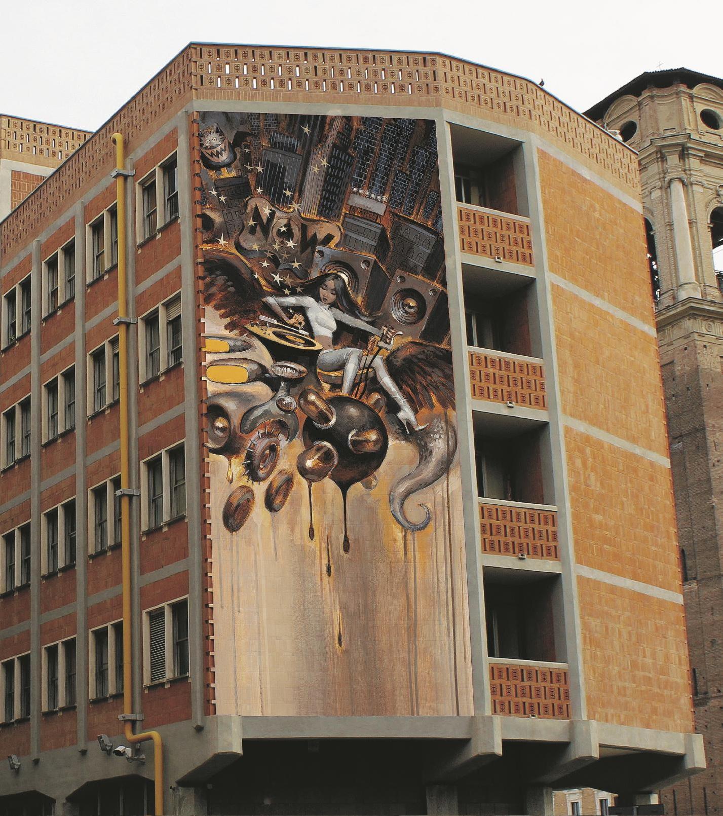 DOPO. Palazzo dei Lavori Pubblici, Torino. Sul Fatto Quotidiano del 13/10/2014 – (Bozzetto di Glenn Barr)