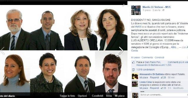 """M5s, attacchi all'ex Orellana per aver votato con il governo: """"Sanguisuga"""""""