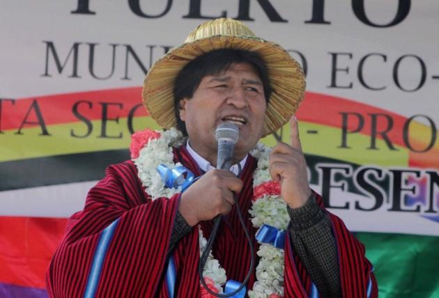 BOLIVIA-PUERTO PEREZ-POLITICS-MORALES