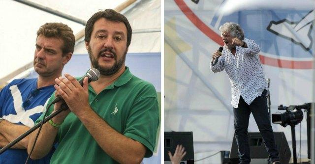 """Referendum Euro, Grillo vs Salvini: """"Non serve incontro"""". Lui: """"Peggio per loro"""""""