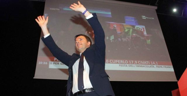 Renzi leader assoluto al 68%: 'D'accordo?'