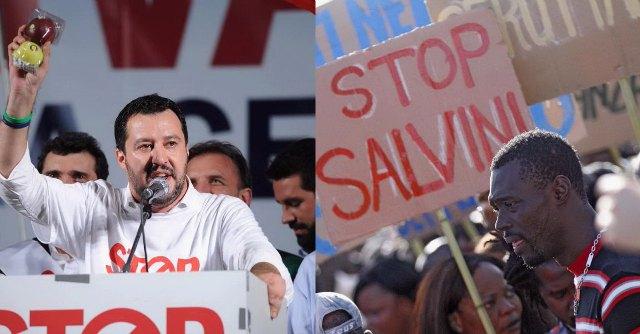 """Lega e Casa Pound in piazza Duomo. Salvini: """"Sospendere trattato di Schengen"""""""