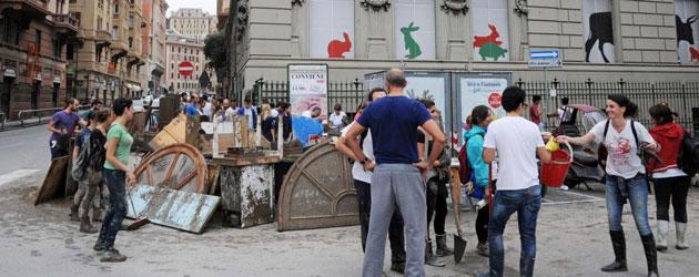 Alluvione, le mani dei politici su Genova