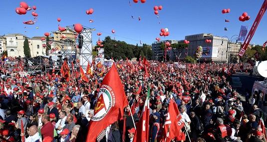 Manifestazione CGIL per il lavoro, dignità, uguaglianza, per cambiare l' Italia