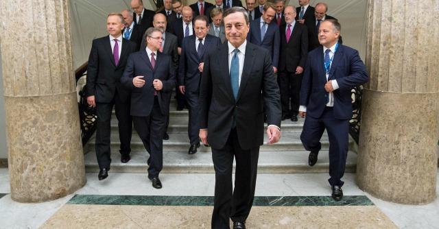 Mario Draghi e il Consiglio Direttivo Bce