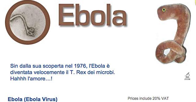 Ebola, tutto esaurito per il virus-peluche di una società americana