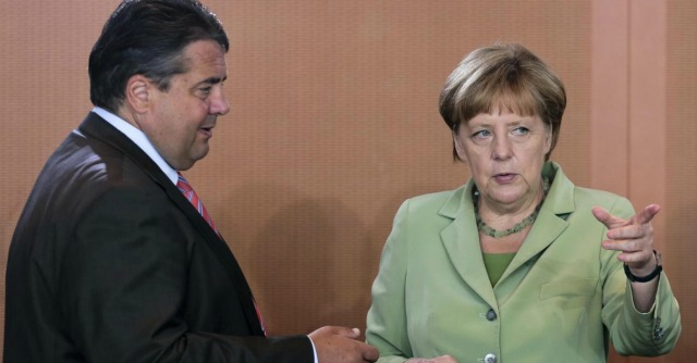 Angela Merkel e Sigmar Gabriel