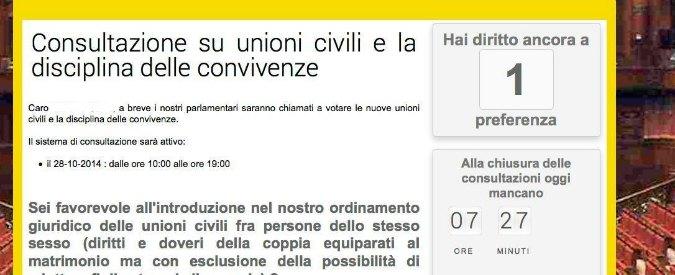 Nozze gay, blog Grillo fa sondaggio online: iscritti M5s dicono sì a unioni civili