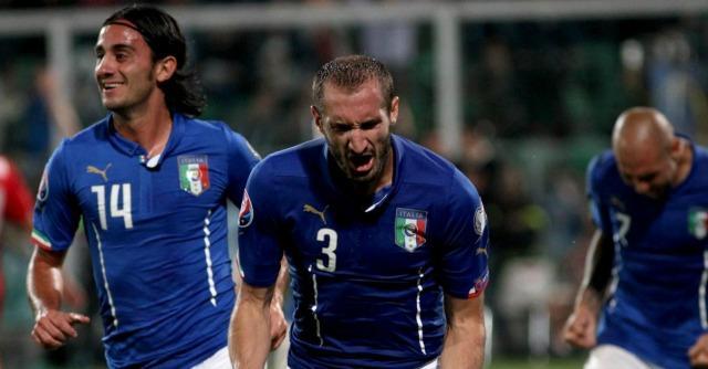 Italia-Azerbaigian 2-1, Chiellini mette a segno doppietta e autorete a Palermo