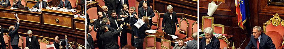 Jobs act, il Senato dice s� alla fiducia Libri contro Grasso, rissa tra Pd e Sel