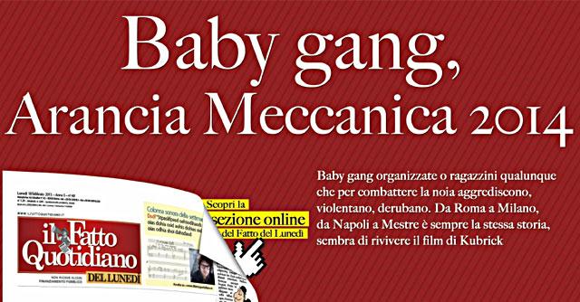 In edicola sul Fatto del Lunedì: Arancia meccanica 2014 (sondaggio)