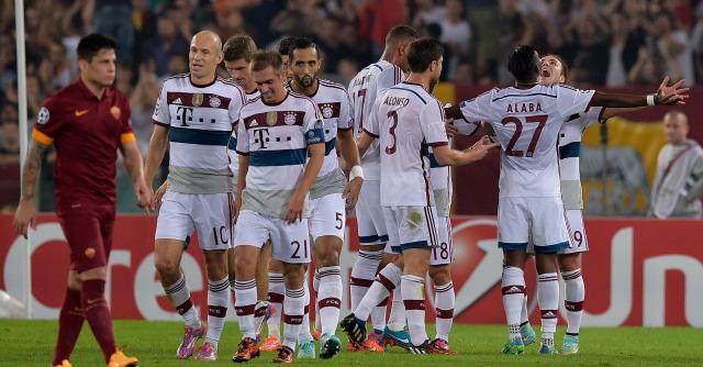 Roma-Bayern Monaco 1-7: Pep Guardiola umilia Rudi Garcia e i 65mila dell'Olimpico