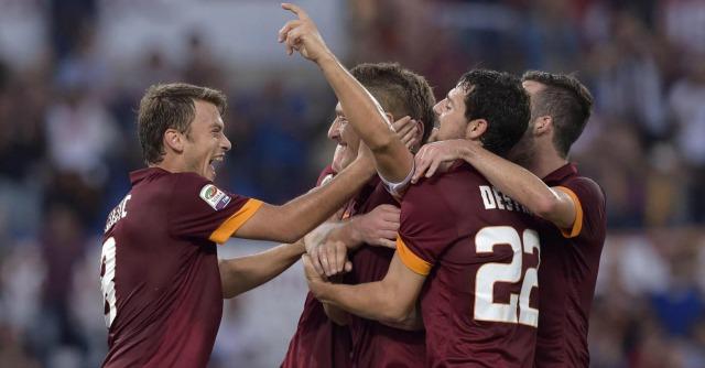 Roma-Chievo Verona 3-0, gol di Destro, Ljaic e Totti. Giallorossi di nuovo in testa