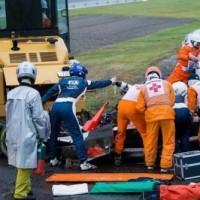I soccorsi al pilota francese Bianchi. A causa del meteo l'emergenza è stata gestita con le ambulanze e non con l'elicottero