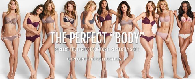 """Victoria's Secret, """"il corpo perfetto non esiste, cambia i tuoi cartelloni di intimo"""""""