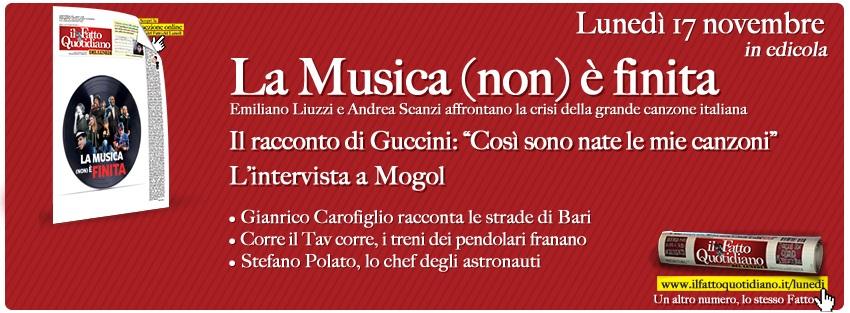 """Il Fatto del Lunedì – Il racconto di Guccini: """"Così sono nate le mie canzoni"""""""