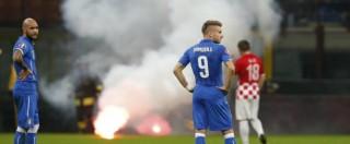 Italia – Croazia, fumogeni in campo a San Siro: 17 arresti nel post-partita