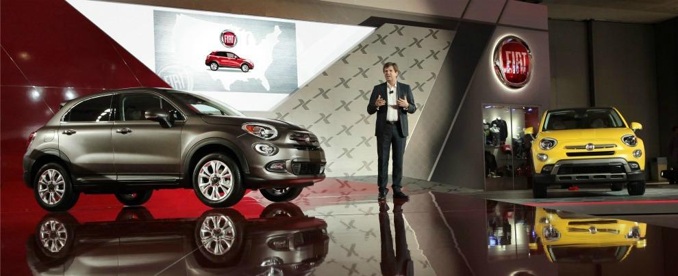 Presentazione Fiat 500X al Salone di Los Angeles 2014
