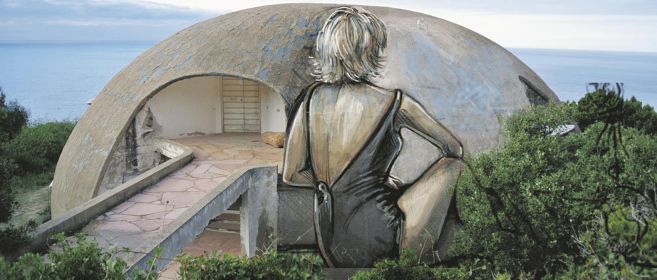 DOPO. La Cupola, Costa Paradiso, Sardegna.  (Bozzetto Alice Pasquini) Sul Fatto Quotidiano del 6 ottobre 2014