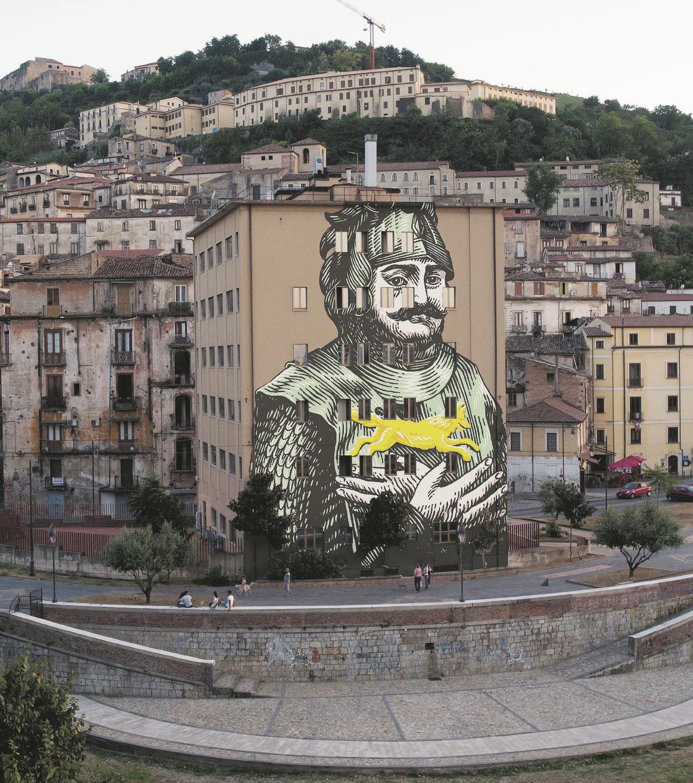 DOPO. Ex-Jolly Hotel a Cosenza. (Bozzetto ad opera di Lucamaleonte) Sul Fatto Quotidiano di lunedì 22 settembre 2014