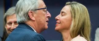 """Scontro Juncker-Renzi, i renziani mollano la Mogherini: """"Dovrebbe fare gli interessi nazionali"""""""