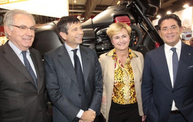 Lupi Guidi inaugurazione Eicma 2014
