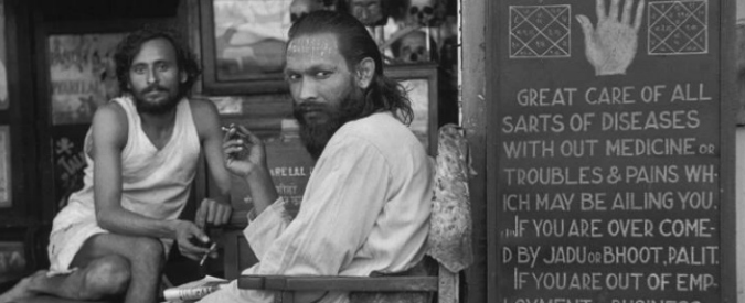 An astrologer's shop in the mill workers' quarter of Parel. Maharashtra, Bombay, India. 1947. © Henri Cartier-Bresson / Magnum Photos