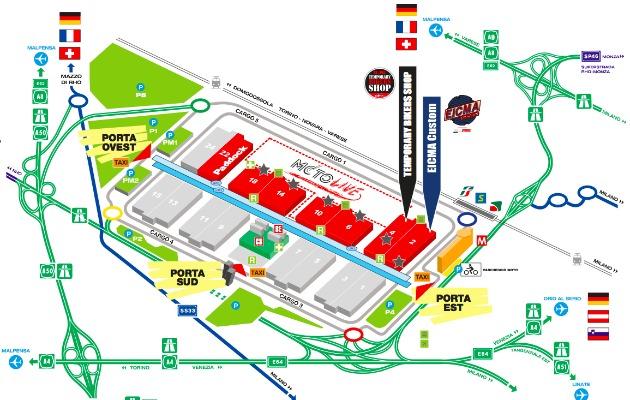 Mappa Eicma Milano 2014