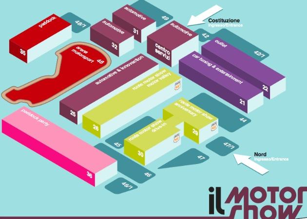 Motor Show 2014 mappa