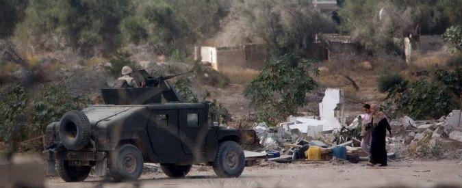 """Egitto: """"Zona cuscinetto al confine con Gaza"""". Isis: """"Nel Sinai nuovo Califfato"""""""