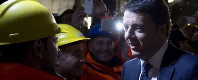 Bologna, Renzi inaugura la galleria Val di Sambro. In superficie, Ripoli frana