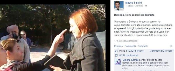 """Lega Nord, tensione al campo nomadi Bologna. Salvini: """"Noi aggrediti"""""""