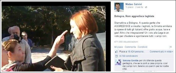 """Salvini al campo nomadi di Bologna, Anpi: """"Prefetto fermi visita Lega Nord"""""""