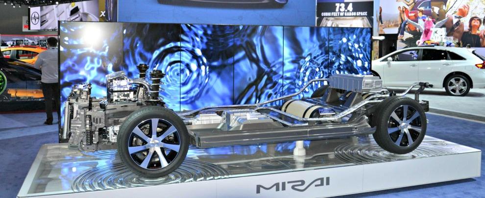 Toyota Mirai, schema funzionamento fuel cell