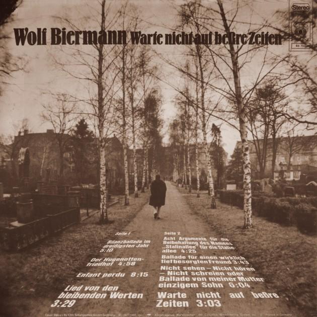 Wolf Biermann - Warte Nicht Auf Beßre Zeiten - Back