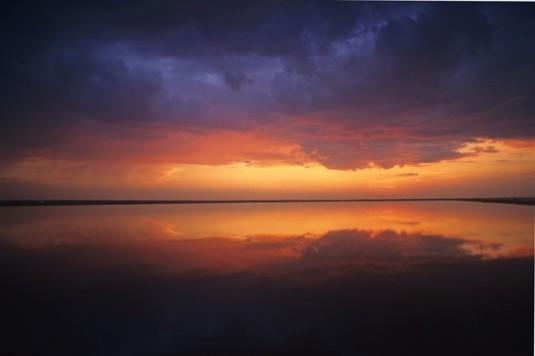 Nembi più neri al tramonto diventano le più rosa ph vgiannella