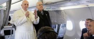 """Papa Francesco: """"Minaccia terroristi è reale. Ma lo Stato non uccida innocenti"""""""