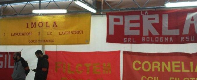 Cgil, a Bologna raduno per le aziende in crisi: da Coop Ceramica a La Perla