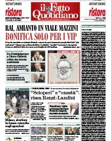 Copertina Il Fatto Quotidiano - Rai, amianto in viale Mazzini. Bonifica solo per i vip