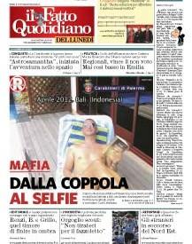 Copertina Il Fatto Quotidiano - Mafia: dalla coppola al selfie