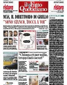 """Copertina Il Fatto Quotidiano - M5S, il direttorio di Grillo. """"Sono stanco, tocca a voi"""""""